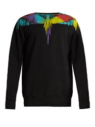 Marcelo Burlon Nicolas Crew Neck Cotton Jersey Sweatshirt Black Multi