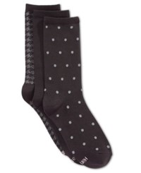 Hanes Women's Comfort Soft Crew Socks 3 Pack Black Dot