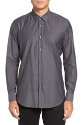 Pal Zileri Men's Pai Trim Fit Solid Sport Shirt