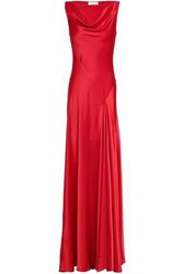 Amanda Wakeley Satin Gown Red