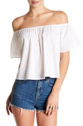Abound Off The Shoulder Shirt White