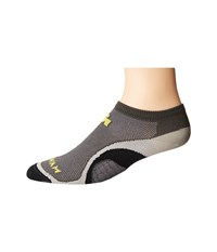 Wigwam Iron Man Velocity Pro Charcoal Low Cut Socks Shoes Gray