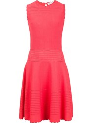 Carolina Herrera Fit And Flare Dress Red