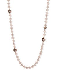 Lonna And Lilly Crystal Flower Necklace Rose
