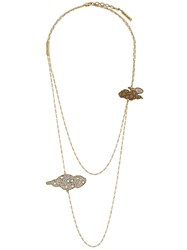 Marc Jacobs Cloud Charm Layered Necklace Metallic