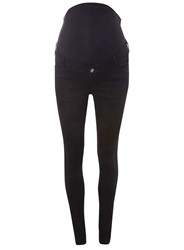 Dorothy Perkins Maternity 'Forever Fit' Black For Pregnancy And Beyond Convertible Super Skinny Jeans