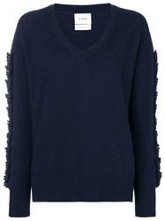 Barrie Cashmere Sweater Blue
