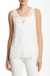 Jack Georgina Lace Cutout Tank White