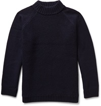 Steven Alan Coper Wool And Cashmere Blend Rollneck Sweater Blue