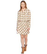 Stetson 0900 Lite Weight Plaid Western Blouse Dress White Women's Dress