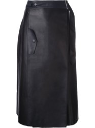 Dion Lee Trench Skirt Women Leather 10 Blue