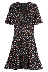 The Kooples Printed Silk Dress Multicolor