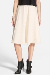 J.O.A. Textured Midi Skirt Juniors White