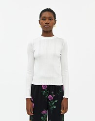 Farrow Celeste Textured Knit Top In White Size Small