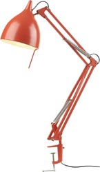 Cb2 Carpenter Bright Orange Lamp