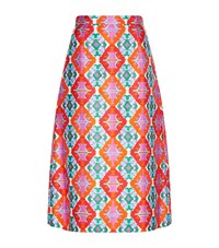 Andrew Gn Geometric Silk A Line Skirt Female Multi