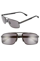 Boss Men's '0773 S' 60Mm Sunglasses Black Crystal Brown