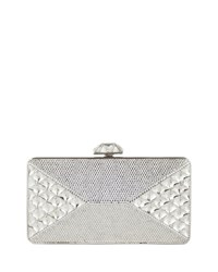 Diamond Crystal Box Clutch Bag Silver Rhinestone Judith Leiber Couture