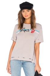 Daydreamer The Rolling Stones Boyfriend Tee Taupe