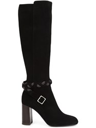 Ritch Erani Nyfc Braided Detail Knee Length Boots Black