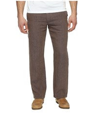 Perry Ellis Drawstring Linen Pants Toasted Coconut Men's Casual Pants Brown