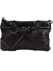 Campomaggi Studded Shoulder Bag Brown
