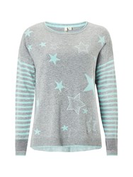 White Stuff Amour Star Jumper Grey