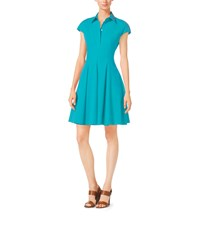 Michael Kors Cap Sleeve Cotton Poplin Dress