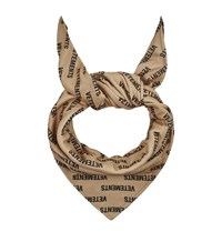 Vetements Logo Fleece Scarf Beige