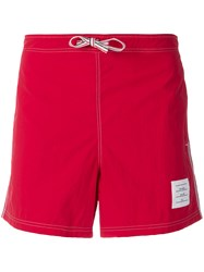 Thom Browne Deck Shorts Red
