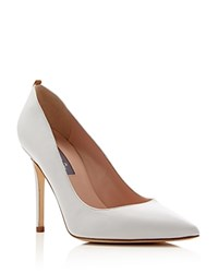 Sjp By Sarah Jessica Parker Fawn Pointed Toe High Heel Pumps White