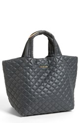 M Z Wallace Mz 'Small Metro' Quilted Oxford Nylon Tote Grey Magnet