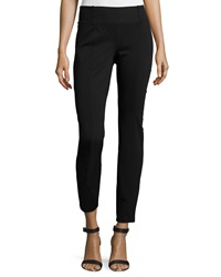 Eileen Fisher Rayon Knit Skinny Pants Black