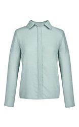 Marina Hoermanseder Blue Surf Pointed Collar Blouse Light Blue