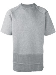 Juun.J Ribbed Hem T Shirt Grey