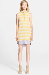 Band Of Outsiders Women's Sleeveless Shirtdress With Contrast Hem