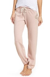Monrow Women's Vintage Sweat Pants Cheeky Pink
