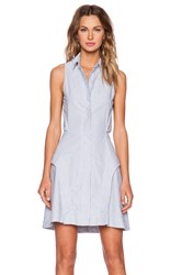 Shades Of Grey Peek A Boo Shirtdress Blue