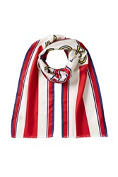 Marc Jacobs Silk Football Scarf Multicolor