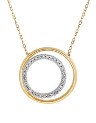Lord And Taylor Diamonds 14K Yellow Gold Nested Circle Pendant Necklace