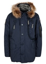 Alpha Industries Polar Navy Fur Trimmed Parka Blue