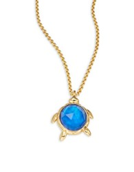 Kate Spade Paradise Found Turtle Mini Pendant Necklace Blue