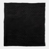 Coach Tonal Horse And Carriage Oversized Scarf Black
