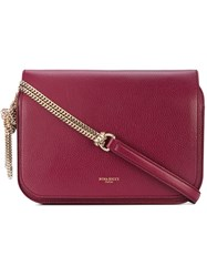 Nina Ricci Flap Chain Shoulder Bag Women Cotton Leather One Size Pink Purple