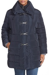 Jessica Simpson Down And Feather Fill Toggle Front Coat Plus Size Navy