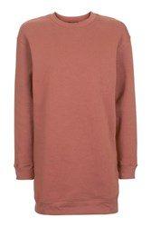 Topshop Throw On Sweat Tunic Top Rust
