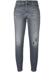 7 For All Mankind 'Josephine Destroyed' Jeans Grey