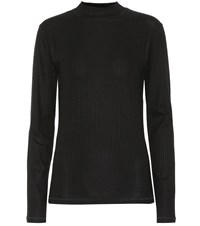 Eytys Stretch Ribbed Knit Top Black