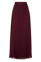 Coast Imi Pleated Maxi Skirt Merlot