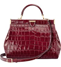 Aspinal Of London The Dockery Small Embossed Leather Handbag Bordeaux
